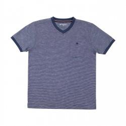 Men Short Sleeves navy Anything T-shirt 71058 Anything - 1