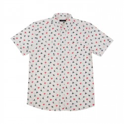 Men short sleeves printed shirt white Anything 73502 Anything - 1