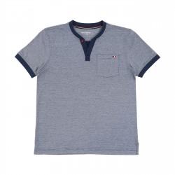 Men Short Sleeves navy Anything T-shirt 71060 Anything - 1
